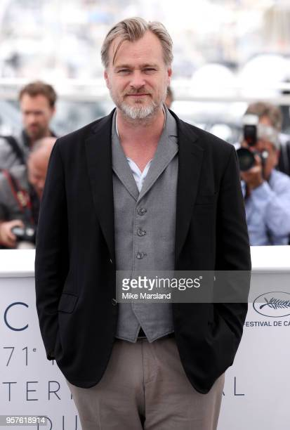 Christopher Nolan attends the Rendezvous With Christopher Nolan photocall during the 71st annual Cannes Film Festival at Palais des Festivals on May...