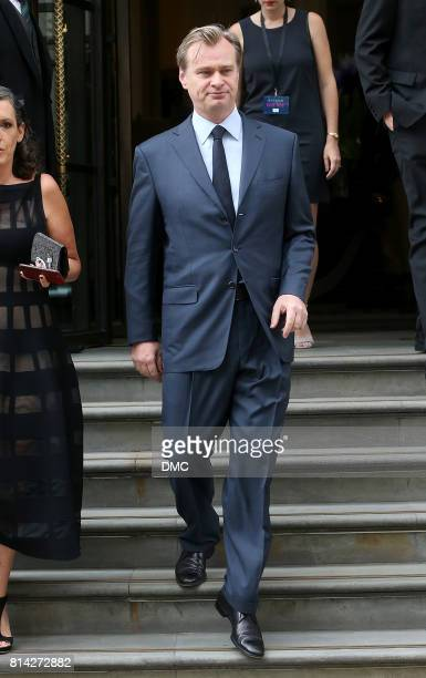 Christopher Nolan is seen leaving his hotel to the 'Dunkirk' World Premiere on July 13 2017 in London England