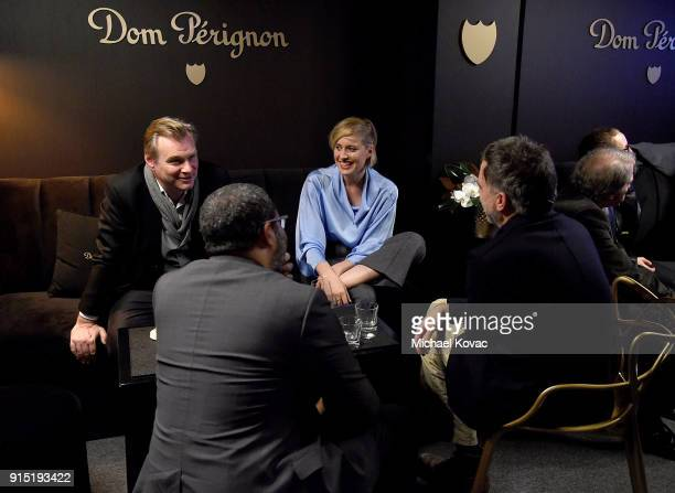 Christopher Nolan Jordan Peele Greta Gerwig and Paul Thomas Anderson visit the Dom Perignon Lounge before receiving the Outstanding Directors Award...