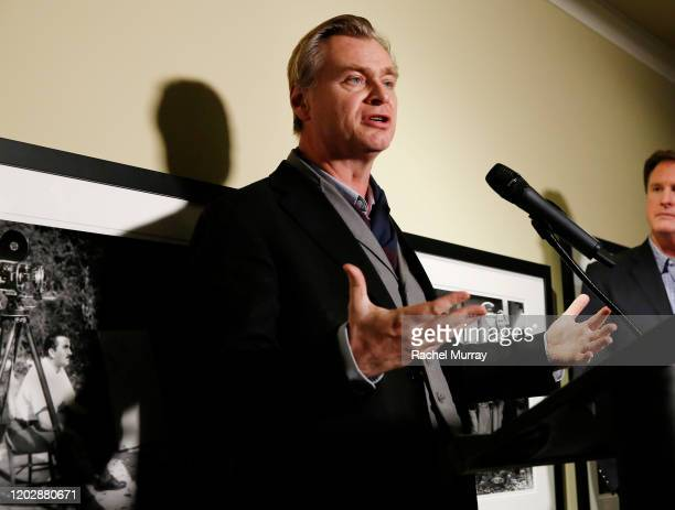 Christopher Nolan speaks onstage during the Fourth Annual Kodak Film Awards at ASC Clubhouse on January 29, 2020 in Los Angeles, California.