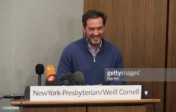 Christopher O'Neill and Dr. Sona Daggan hold a press conference at NewYork-Presbyterian/ Weill Cornell Medical Center on February 21, 2014 in New...