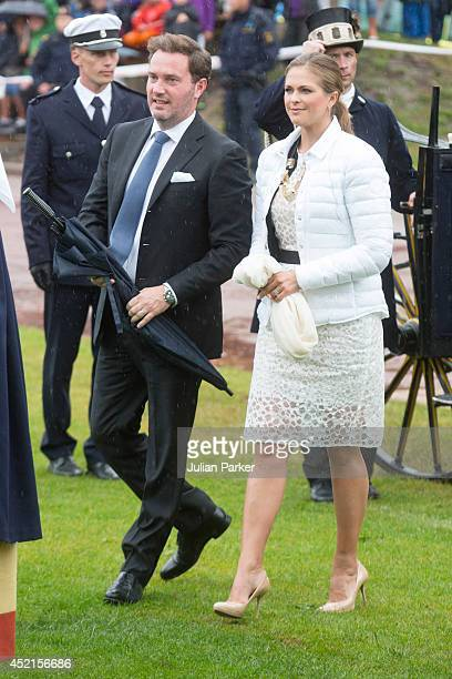 Christopher O'Neill and Princess Madeleine of Sweden attend a concert in Borgholm to celebrate the 37th Birthday of Crown Princess Victoria of Sweden...