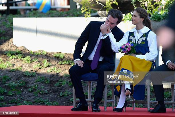 Christopher O'Neill and Princess Madeleine of Sweden attend the National Day Celebrations at Skansen on June 6, 2013 in Stockholm, Sweden.