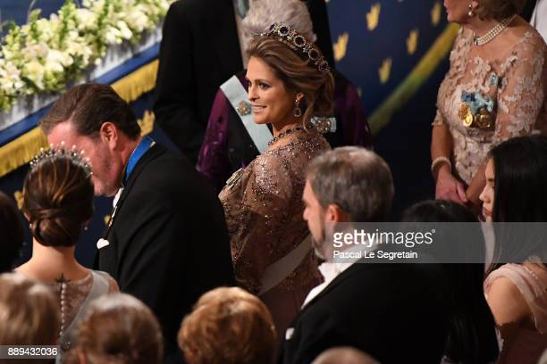 Christopher O'Neill and Princess Madeleine of Sweden attend the Nobel Prize Awards Ceremony at Concert Hall on December 10 2017 in Stockholm Sweden