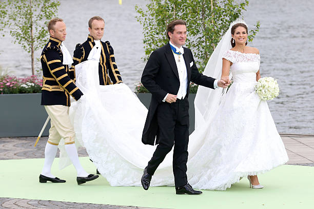 Christopher ONeill And Princess Madeleine Of Sweden Depart For The Travel By Boat To