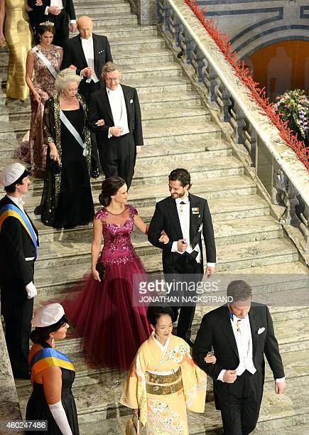 Christopher ONeill, husband of Princess Madeleine of Sweden and Kasumi Amano, wife of Hiroshi Amano, the 2014 Nobel Prize laureate in physics ,...