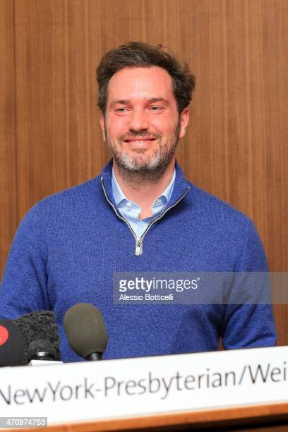Christopher O'Neill is giving press conference at NewYork-Presbyterian/ Weill Cornell Medical Center on February 21, 2014 in New York City. The...