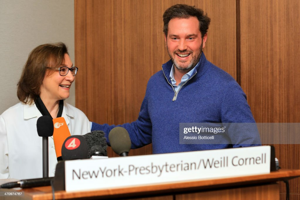 Christopher O'Neill is giving press conference at NewYork-Presbyterian/ Weill Cornell Medical Center on February 21, 2014 in New York City. The 31-year-old Princess, whose full title is Madeleine Therese Amelie Josephine, Princess of Sweden, Duchess of Halsingland and Gastrikland, is fourth in line to the throne of Sweden. She married US-British banker Christopher O'Neill in June, and the couple announced in September that they were expecting their first child. 'The Office of the Marshal of the Realm is delighted to announce that H.R.H. Princess Madeleine gave birth to a daughter on February 20, 2014 at 10.41 pm local time New York,' the Swedish court said. 'Both mother and child are in good health.'