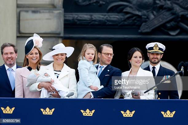 Christopher O'Neill Princess Madeleine of Sweden Prince Oscar of Sweden Crown Princess Victoria of Sweden Prince Daniel of Sweden Princess Estelle of...