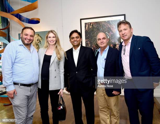 Christopher Pape Angela Gorman Dave Shetty Dario Vanegas and Adam Weiss Attend the Resident Celebrates Jean Shafiroff June 2018 Cover Star on June 25...