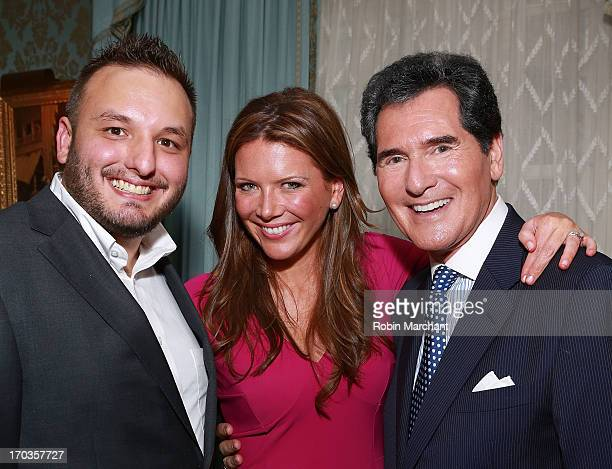 Christopher Pape Trish Regan and Ernie Anastos attend Salute To The Southampton Animal Shelter at Private Residence on June 11 2013 in New York City