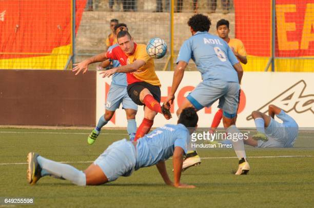 Christopher Payne of East Bengal during Hero I League match between Kingfisher East Bengal and Churchill Brothers Sports Club at Barasat Stadium on...