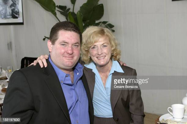 Christopher Penn and his mother Eileen Ryan Penn during Dr Jane Goodall Champagne Tea Reception at Malibu Event in malibu california United States