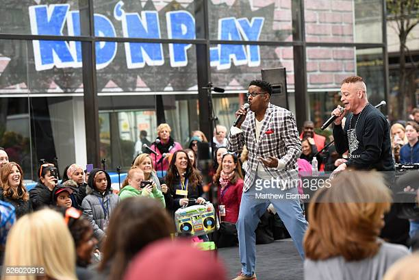 Christopher Play Martin and Christopher Kid Reid of Kid 'n Play perform live on stage for NBC's Today at Rockefeller Plaza on April 29 2016 in New...