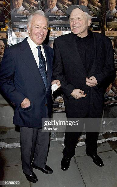 "Christopher Plummer and Brian Dennehy during ""Inherit the Wind"" Opening Night on Broadway - After Party at Bryant Park Grill in New York City, New..."