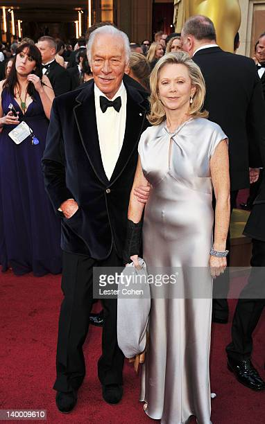 Christopher Plummer and wife Elaine Taylor arrive at the 84th Annual Academy Awards held at the Hollywood Highland Center on February 26 2012 in...