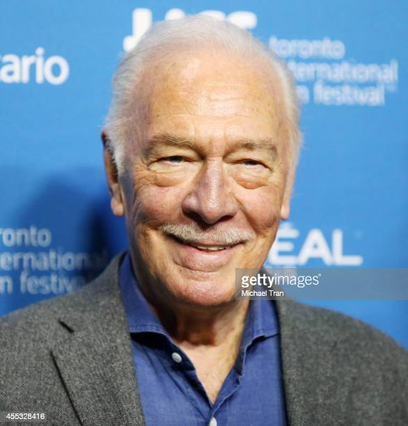 Christopher Plummer arrives at the photocall of The Forger held during the 2014 Toronto International Film Festival Day 9 on September 12 2014 in...