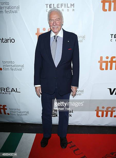 Christopher Plummer arrives at the premiere of The Forger held during the 2014 Toronto International Film Festival Day 9 on September 12 2014 in...