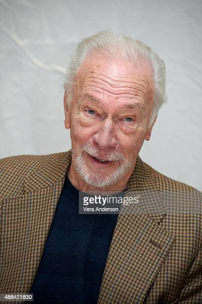 Christopher Plummer at the Remember Press Conference at the Fairmont Royal York on September 13 2015 in Toronto Ontario