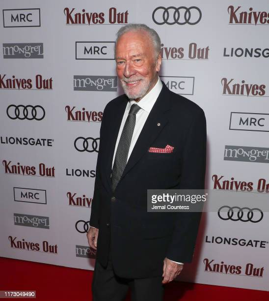 """Christopher Plummer attends the post-screening event for """"Knives Out"""" hosted by Audi Canada, Lionsgate, Mongrel Media and MRC at Patria on September..."""