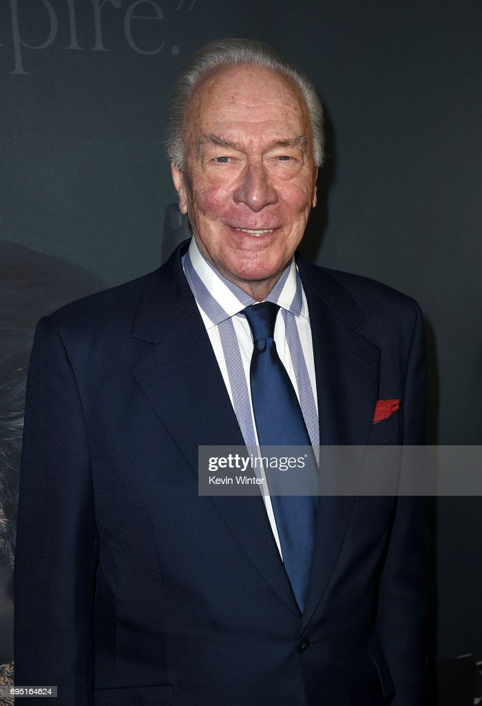 Christopher Plummer attends the premiere of Sony Pictures Entertainment's 'All The Money In The World' at Samuel Goldwyn Theater on December 18, 2017 in Beverly Hills, California.