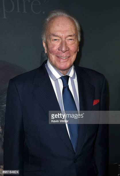 Christopher Plummer attends the premiere of Sony Pictures Entertainment's 'All The Money In The World' at Samuel Goldwyn Theater on December 18 2017...