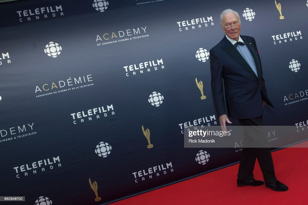 Christopher Plummer set to leave the carpet. Canadian Screen Awards red carpet at Sony Centre for the Performing Arts ahead of the show.