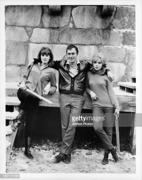 Christopher Plummer with two women offcamera from the film 'The Fall Of The Roman Empire' 1964