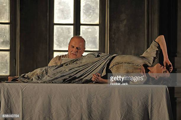 Christopher Purves as The Protector and Barbara Hannigan as Agnes in the Royal Opera's production of George Benjamin and Martin Crimp's Written on...