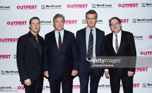 Christopher Racster Tom Bernard Rupert Everett and Michael Barker arrive at the 13th Annual Outfest Legacy Awards at Vibiana on October 28 2018 in...