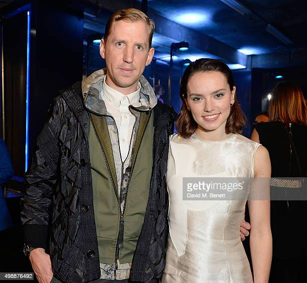 Christopher Raeburn and Daisy Ridley attend the Star Wars Fashion Finds The Force presentation at the Old Selfridges Hotel London 10 Londonbased...