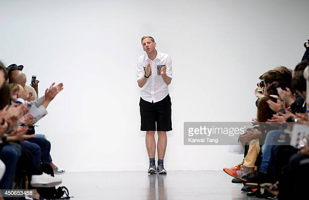 Christopher Raeburn attends the Christopher Raeburn show during the London Collections Men SS15 on June 15 2014 in London England