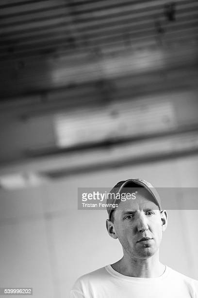 Christopher Raeburn backstage at the Christopher Raeburn show during The London Collections Men SS17 at the BFC Show Space on June 12 2016 in London...