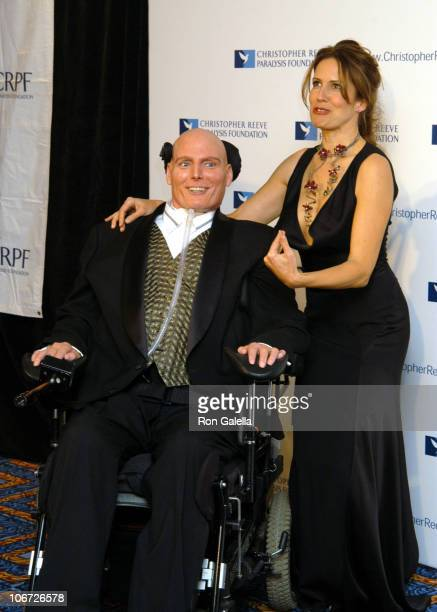 """Christopher Reeve and Dana Reeve during 13th Annual """"A Magical Evening"""" Gala Hosted by The Christopher Reeve Paralysis Foundation at Marriot Marquis..."""