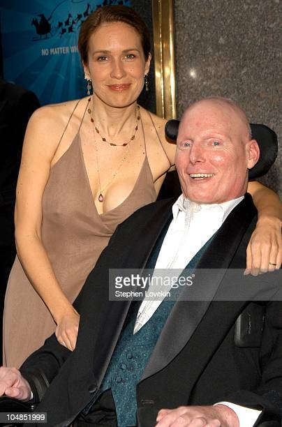 Christopher Reeve and Dana Reeve during 2003 Tony Awards - Arrivals at Radio City Music Hall in New York City, NY, United States.