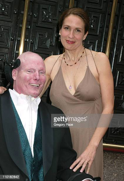 Christopher Reeve and Dana Reeve during 2003 Tony Awards - Arrivals at Radio City Music Hall in New York City, New York, United States.