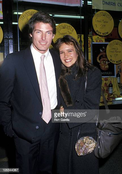 """Christopher Reeve and Dana Reeve during Benefit Reading of """"Poor Richards Theatricks"""" - October 26, 1987 at Abigail Smith Museum in New York City,..."""