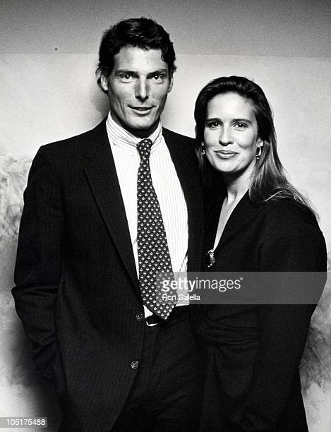 """Christopher Reeve and Dana Reeve during """"Orpheus Descending"""" Play Opening at Neil Simon Theater in New York City, NY, United States."""