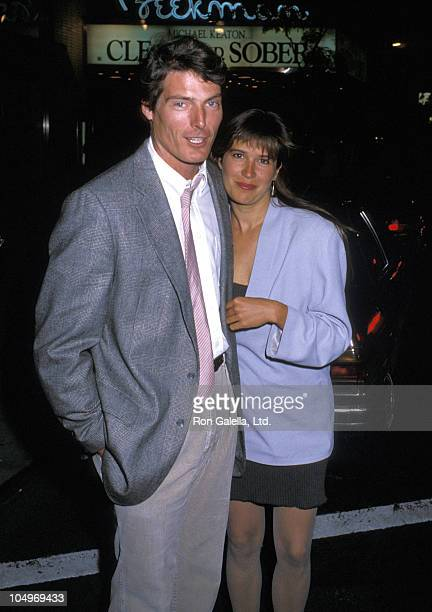 """Christopher Reeve and Dana Reeve during """"Running On Empty"""" New York City Premiere at Beekman Theatre in New York City, New York, United States."""