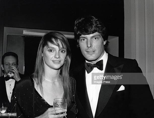 Christopher Reeve and Gae Exton attend the 55th Annual Academy Awards Governer's Ball circa 1983 in Los Angeles California