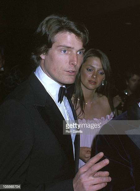 Christopher Reeve and Gae Exton during 50th Anniversary Gala For USC's Film Department at Century Plaza Hotel in Century City California United States