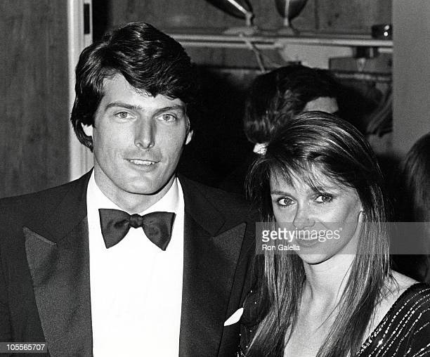 Christopher Reeve and Gae Exton during 55th Annual Academy Awards Governer's Ball at Beverly Hills Hotel in Beverly Hills California United States