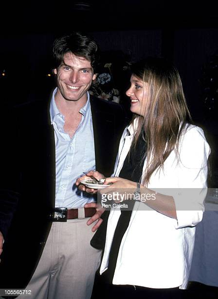 Christopher Reeve and Gae Exton during NBC Party Hosted By Liz Smith September 30 1980 at Hisae in New York City New York United States