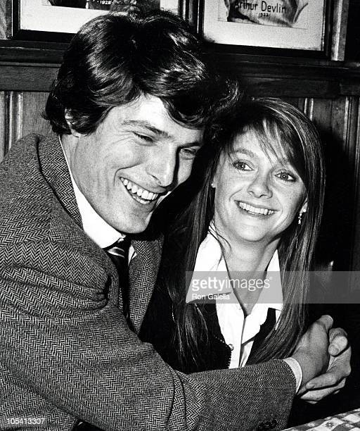 Christopher Reeve and Gae Exton during Party for Kate Burton's Opening in Alice In Wonderland at Gallagher's Restaurant in New York City New York...