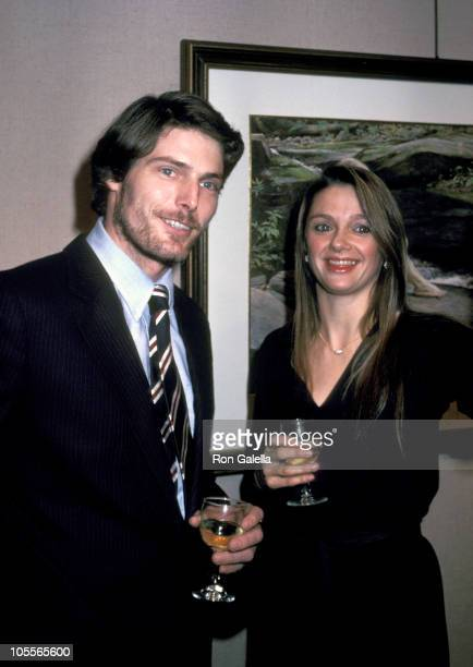 Christopher Reeve and Gae Exton during Photo Exhibit by John Denver at Hammer Galleries in New York City New York United States