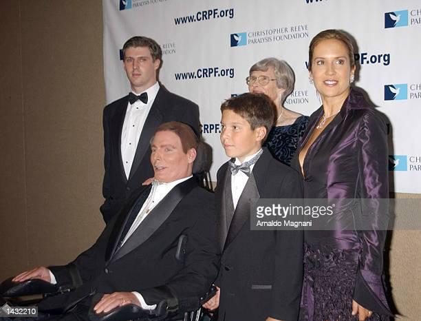 Christopher Reeve and his family attend the Magical Birthday Bash celebrating the birthdays of Reeve Michael Douglas Catherine ZetaJones Barbara...