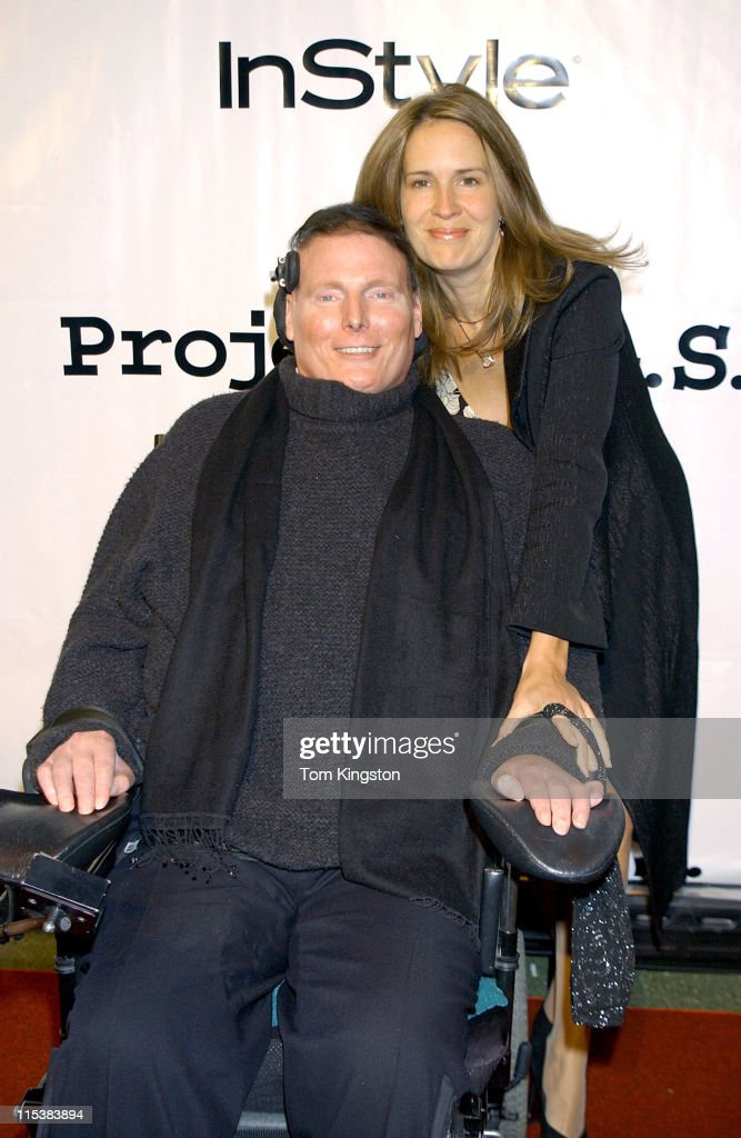 Christopher Reeve And Wife Dana During Project A.L.S. 5th