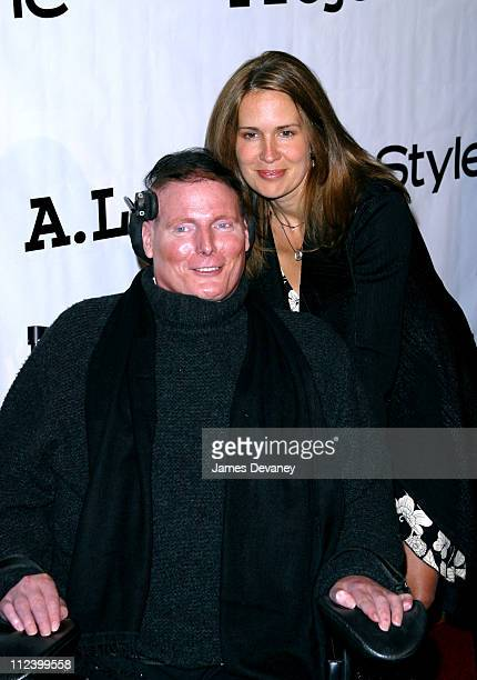 """Christopher Reeve & Dana Reeve during Project A.L.S. 5th Annual New York City Gala """"Tomorrow is Tonight"""" Benefit at Roseland in New York City, New..."""