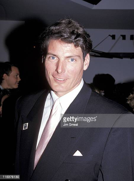 Christopher Reeve during The 63rd Annual Academy Awards After Party at Maple Drive Restaurant in 19910225 California United States
