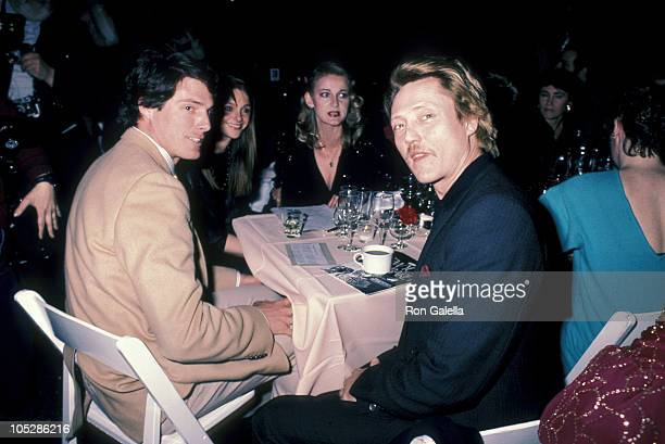 Christopher Reeve Gae Exton and Christopher Walken